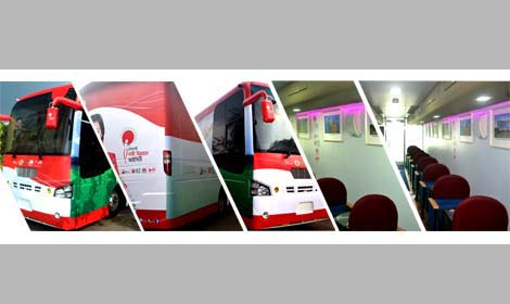 Google Bus Bangladesh on Eicher Bus Chassis